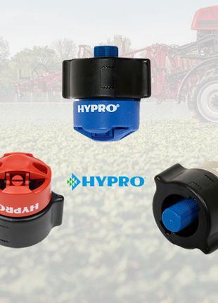 Двухструйный антисносовый распылитель Hypro GAT на опрыскиватель