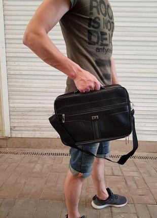 Портфель сумка мужская для ноутбука, документов и др.. качеств...
