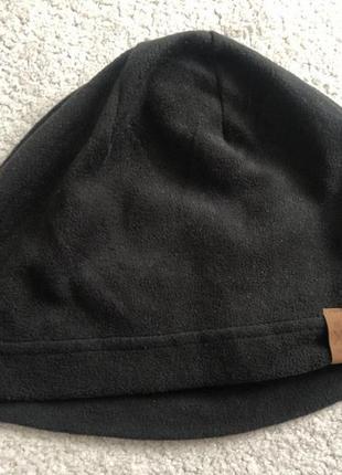 Шапка мужская black флис микрофибра h&m зима новая 54