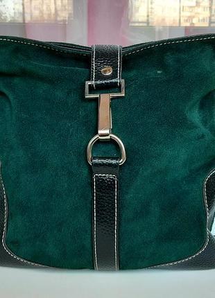 Стильная замшевая сумка cross-body