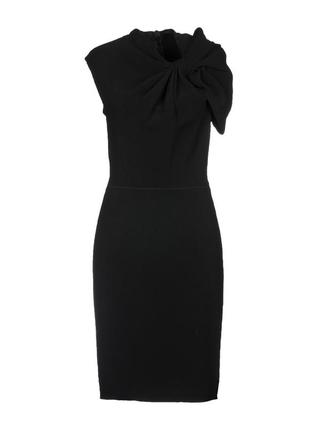 Платье миди 48  размер офисное бюстье осеннее нарядное с  черное