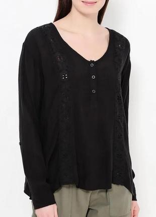 Р 12 / 46-48 volcom изумительная ажурная блуза блузка с кружев...