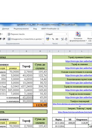 Работа в Excel, создание таблиц, диаграмм, анализ данных