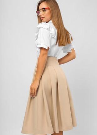 Шикарная юбка миди высокая посадка