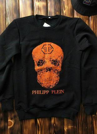 Свитшот - мужской в стиле PHILIPP PLEIN (чёрный)