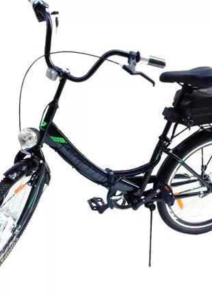 Электровелосипед складной Smart 24 корзина