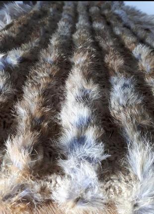 Снуд, шарф с натуральным мехом leonardo
