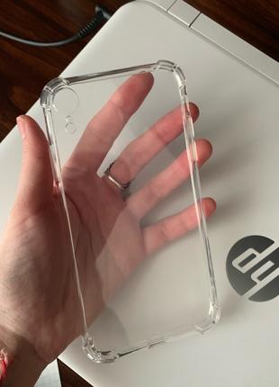 Чехол на iPhone XR силиконовый противоударный прозрачный айфон