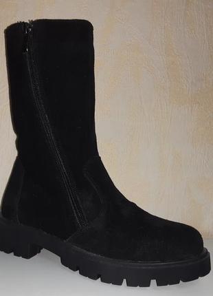 Замшевые зимние ботинки на девочку 31-38 р santegros, женские