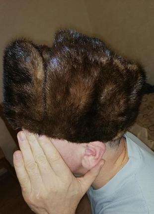 Шапка норковая унисекс. размер 56-58