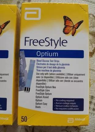 Freestyle Optium тест полоски 50 штук