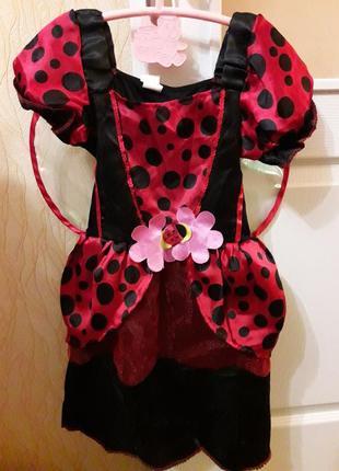 Арнавальный костюм девочке 4-6 лет божья коровка