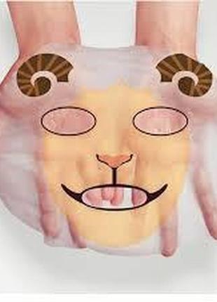 Питательная тканевая маска для лица с принтом овечка bioaqua с...