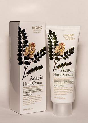 Крем для рук 3w clinic acacia hand cream с экстрактом акации 1...