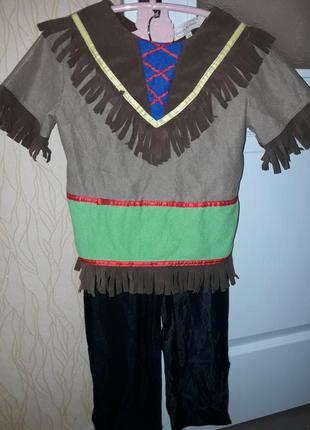 Карнавальный костюм индеец мальчику