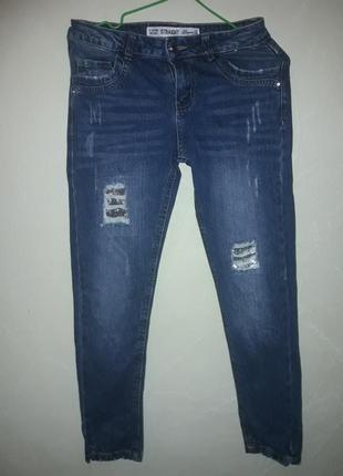 Стильные джинсы с пайетками