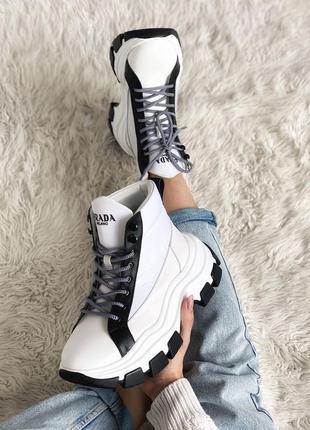 Крутые женские высокие кроссовки, ботинки на платформе, демисе...