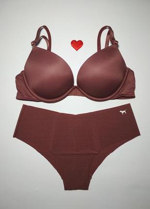Комплект белья двойной пуш-ап victoria's secret pink оригинал