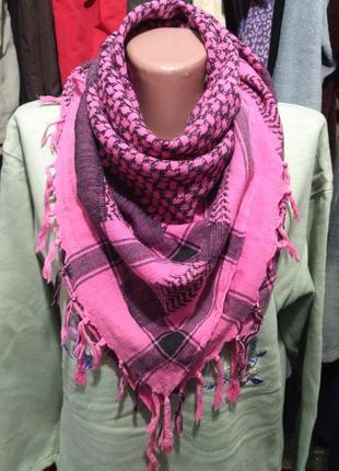 Розовый шейный платок, косынка, 100% коттон