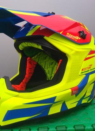 Кроссовый шлем - MT Falcon, новый.