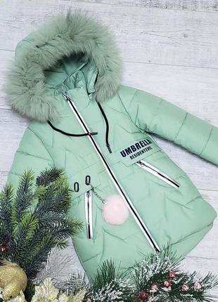 Зимняя куртка-пальто для девочки