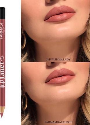 Карандаш для губ farmasi lip liner 223 пісочний