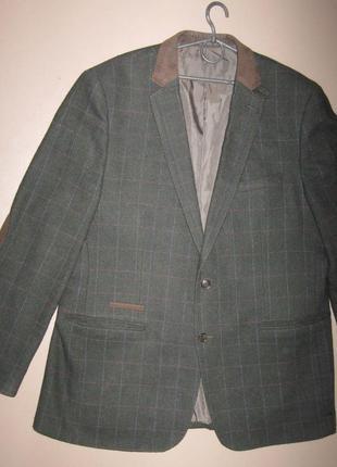 Пиджак мужской в клетку полушерстяной harry brown р.56 теплый