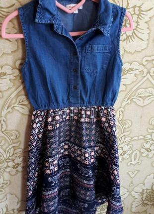 Джинсовый сарафан,платье