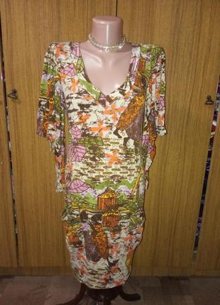 Платье-туника с африканским принтом