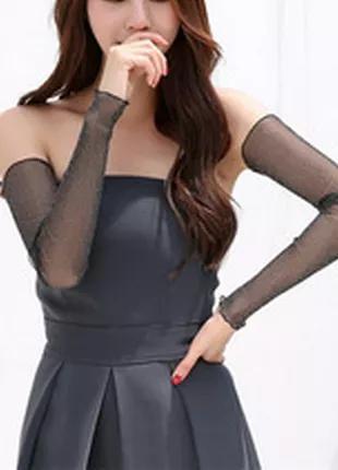 Митенки рукава съемные женские перчатки без пальцев нарукавники