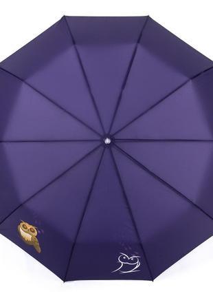Большой женский зонт с красивым принтом