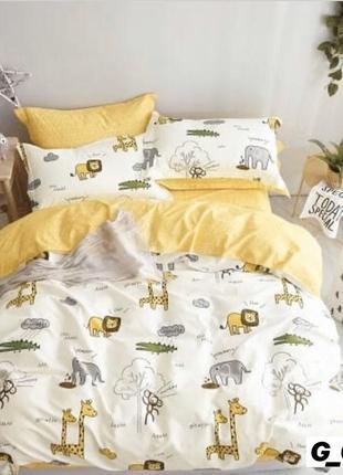 Полуторный комплект постельного белья из бязь голд 💯 хлопок