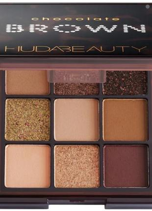 Палетка тіней huda beauty chocolate brown obsessions