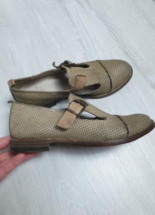 Кожаные туфли keep original в стиле bottega, rundholz, brunell...