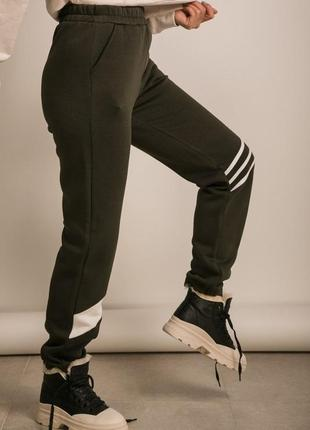 Спортивные женские утепленные штаны