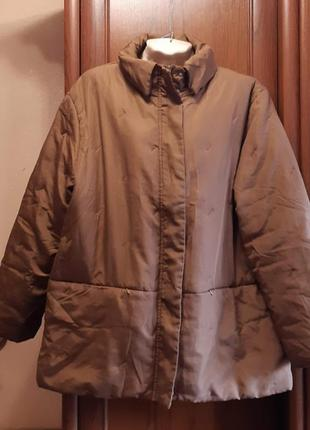 Теплая легкая куртка батал большого размера encadee синтепон