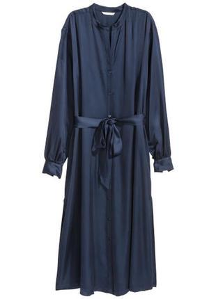 Длинное платье-рубашка h&m