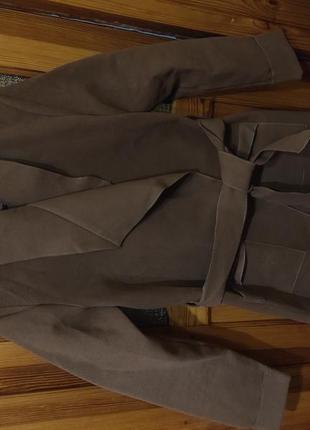 Замшеве легеньке пальто
