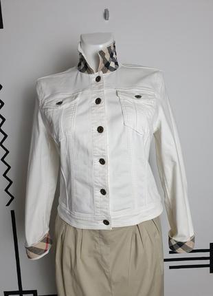Джинсовая куртка пиджак burberry