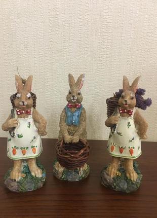 Статуэтки трио зайцев