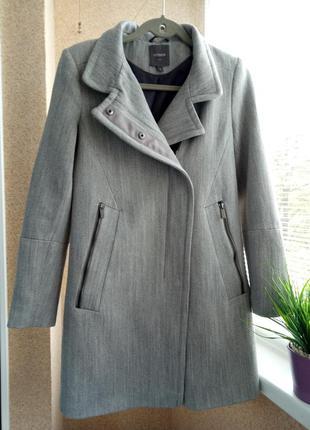 Модное качественное осеннее пальто с содержанием шерсти
