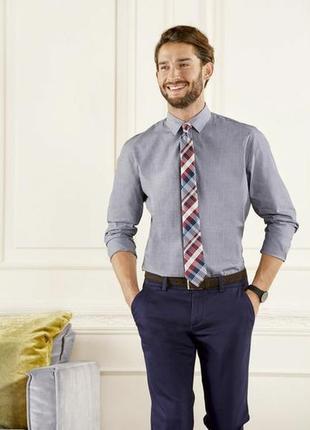 Уценка мужская рубашка slim fit р. 40 серая от livergy германия