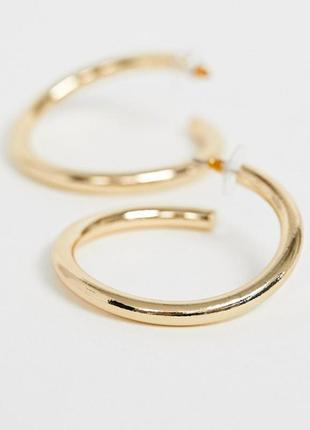 Серьги-кольца asos design с золотым напылением✨