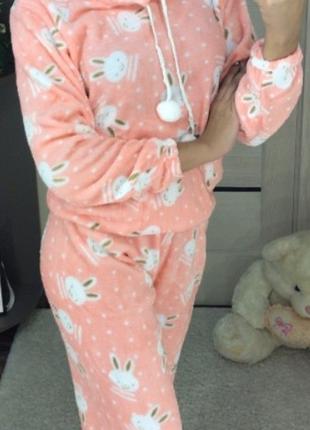Женская теплая пижама махра
