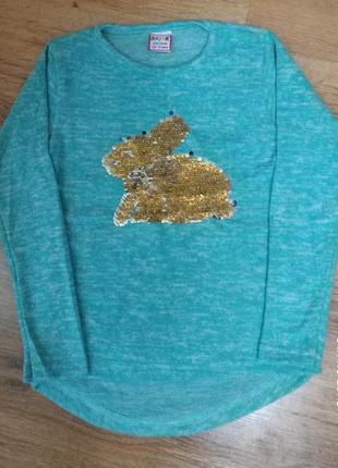 Красивые туника, свитер, реглан ,кофта теплая для девочки пайе...