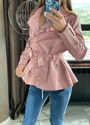 Куртка из экокожи косуха