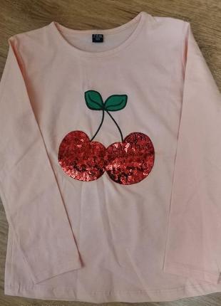 Красивая кофта, туника ,футболка с длинным рукавом для девочки...