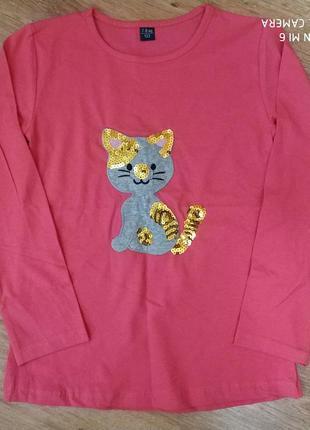 Красивая кофточка для девочки,реглан,футболка с длинным рукавом