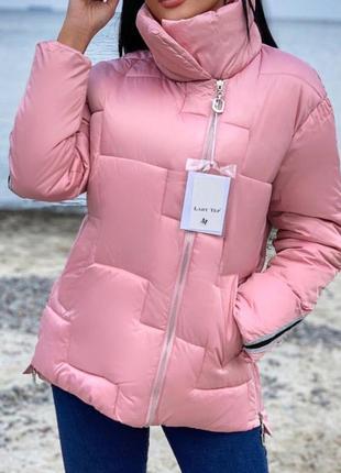 Женская зимняя куртка розового цвета,см.описание!!!