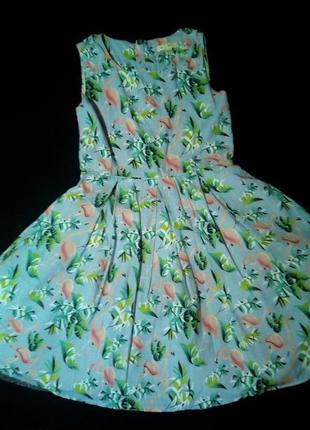 Нарядное платье,👚 розовый фламинго. на 11-12 лет.